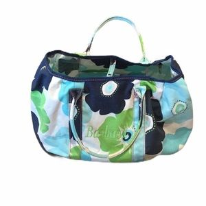 "thirty-one ""Barbara"" Floral Canvas Large Tote Bag"